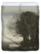 Camille Corot   The Leaning Tree Trunk Duvet Cover