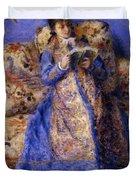 Camille Monet Reading 1872 Duvet Cover