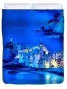 Camogli Sunrise - Camogli All'alba Paint1 Duvet Cover