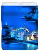 Camogli Sunrise - Camogli All'alba Paint2 Duvet Cover