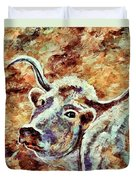 Camouflage Cow Art Duvet Cover