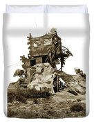 Camouflage Observation Tower Near Asilomar And The Point Pinos Lighthouse 1941 Duvet Cover