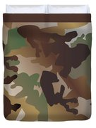 Camouflage Pattern Background  Clothing Print, Repeatable Camo G Duvet Cover
