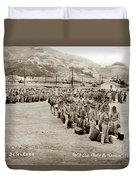 Camp San Luis Obispo Army Base 40th Division Photo 143rd Field Artillery 1941 Duvet Cover