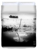 Campaspe River In Black And White Duvet Cover