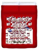 Campbells Mushroom Soup Squared Duvet Cover