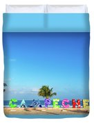 Campeche Sign And Sea Duvet Cover