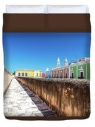 Campeche Wall And City View Duvet Cover