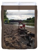 Campfire Cooking Soon - Indiana Canoeing Duvet Cover