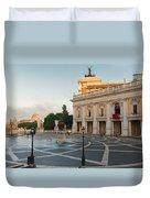 Campidoglio Square In Rome Duvet Cover