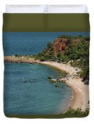 Camping And Swimming Duvet Cover