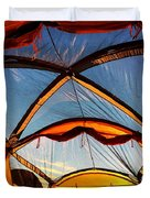 Camping At Sunrise Duvet Cover