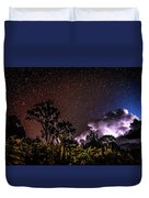 Camping On The Volcano Duvet Cover