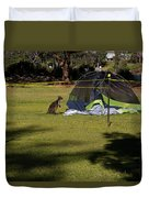 Camping With Swamp Wallaby Duvet Cover