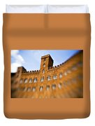 Campo Of Siena Tuscany Italy Duvet Cover by Marilyn Hunt