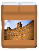 Campo Of Siena Tuscany Italy Duvet Cover by Marilyn Hunt
