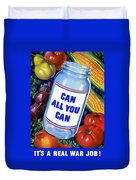 Can All You Can -- Ww2 Duvet Cover