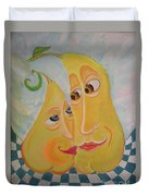 Can I Just Stay Near You?  Pear Love Duvet Cover