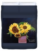 Can Of Sunflowers Duvet Cover