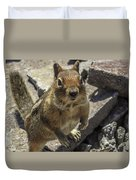 Can You Spare Me Some Food? Duvet Cover