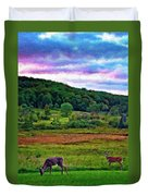 Canaan Valley Evening Impasto Duvet Cover