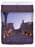 Canaanite Entrance Gate To El Megiddo Duvet Cover