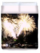 Canada Day 150 Lights 2 Duvet Cover