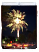 Canada Day 150 Lights 4 Duvet Cover