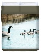 Canada Geese Family Duvet Cover