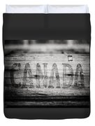Canada In Black And White Duvet Cover