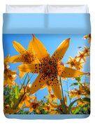 Canada Lily Duvet Cover