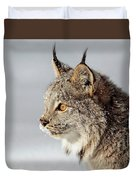 Canada Lynx Up Close Duvet Cover