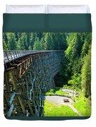 Canada National Historic Wooden Trestle- Kinsol Trestle Near Shawnigan Lake, Bc Canada. Duvet Cover