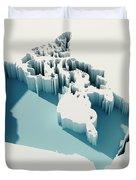 Canada Simple Intrusion Map 3d Render Duvet Cover