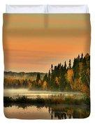 Canadian Autumn Sunrise Duvet Cover