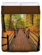 Canadian Autumnal Walkway Duvet Cover