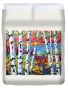 Canadian Birches By Prankearts Duvet Cover