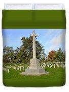 Canadian Cross Of Sacrifice Duvet Cover
