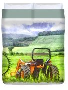 Canadian Farmland With Tractor Duvet Cover