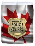 Canadian Forces Military Police C F M P  -  M P Officer Id Badge Over Canadian Flag Duvet Cover