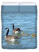 Canadian Geese Family Vacation Duvet Cover