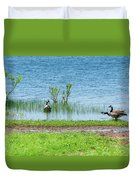 Canadian Geese - Wichita Mountains - Oklahoma Duvet Cover