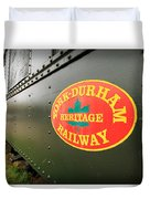 Canadian Heritage Train Duvet Cover