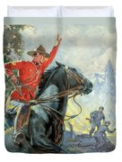 Canadian Mounties Duvet Cover