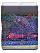 Canadian Pacific Reds Duvet Cover