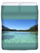 Canadian Paradise In The  Mountains Duvet Cover