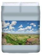 Canadian Prairie At Head-smashed-in Buffalo Jump Duvet Cover