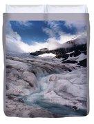 Canadian Rockies Glacier Duvet Cover