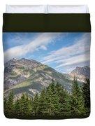 Canadian Rockies Near Kicking Horse Pass Duvet Cover