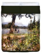 Canadian Sunday Out By The Lake Duvet Cover